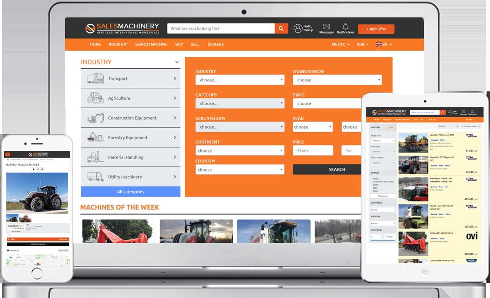 sales-machinery.nl de wereldwijde marktplaats voor gebruikt zwaar materieel